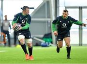 21 February 2020; Peter O'Mahony, left, and Cian Healy during Ireland Rugby squad training at the IRFU High Performance Centre at the Sport Ireland Campus in Dublin. Photo by Seb Daly/Sportsfile
