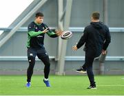 21 February 2020; Dave Heffernan, left, with national scrum coach John Fogarty during Ireland Rugby squad training at the IRFU High Performance Centre at the Sport Ireland Campus in Dublin. Photo by Seb Daly/Sportsfile