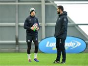 21 February 2020; Jonathan Sexton, left, and head coach Andy Farrell during Ireland Rugby squad training at the IRFU High Performance Centre at the Sport Ireland Campus in Dublin. Photo by Seb Daly/Sportsfile