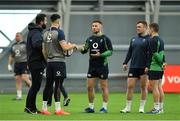 21 February 2020; Head coach Andy Farrell, left, with players Conor Murray, John Cooney, Dave Kilcoyne and Luke McGrath during Ireland Rugby squad training at the IRFU High Performance Centre at the Sport Ireland Campus in Dublin. Photo by Seb Daly/Sportsfile
