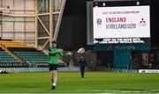 21 February 2020; Andrew Smith of Ireland prior to the Six Nations U20 Rugby Championship match between England and Ireland at Franklin's Gardens in Northampton, England. Photo by Brendan Moran/Sportsfile