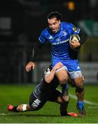 21 February 2020; James Lowe of Leinster is tackled by Aled Daviesof Ospreys during the Guinness PRO14 Round 12 match between Ospreys and Leinster at The Gnoll in Neath, Wales. Photo by Ramsey Cardy/Sportsfile