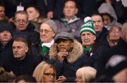 21 February 2020; QPR Director of Football Les Ferdinand watches on during the SSE Airtricity League Premier Division match between Shamrock Rovers and Cork City at Tallaght Stadium in Dublin. Photo by Stephen McCarthy/Sportsfile