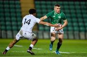 21 February 2020; Oran McNulty of Ireland is tackled by Gabriel Hamer-Webb of England during the Six Nations U20 Rugby Championship match between England and Ireland at Franklin's Gardens in Northampton, England. Photo by Brendan Moran/Sportsfile
