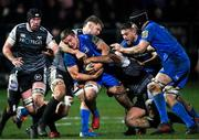 21 February 2020; Scott Penny of Leinster is tackled by Olly Cracknell of Ospreys during the Guinness PRO14 Round 12 match between Ospreys and Leinster at The Gnoll in Neath, Wales. Photo by Ramsey Cardy/Sportsfile