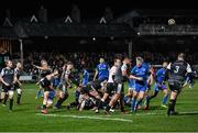 21 February 2020; Aled Davies of Ospreys clears possession during the Guinness PRO14 Round 12 match between Ospreys and Leinster at The Gnoll in Neath, Wales. Photo by Ramsey Cardy/Sportsfile