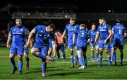 21 February 2020; Peter Dooley of Leinster removes mud from his studs ahead of a scrum during the Guinness PRO14 Round 12 match between Ospreys and Leinster at The Gnoll in Neath, Wales. Photo by Ramsey Cardy/Sportsfile