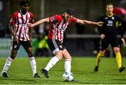 21 February 2020; Eoin Toal of Derry City takes a shot at goal during the SSE Airtricity League Premier Division match between Derry City and Finn Harps at Ryan McBride Brandywell Stadium in Derry. Photo by Oliver McVeigh/Sportsfile