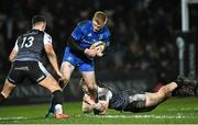 21 February 2020; Tommy O'Brien of Leinster is tackled by Kieran Williams, right, and Owen Watkin of Ospreys during the Guinness PRO14 Round 12 match between Ospreys and Leinster at The Gnoll in Neath, Wales. Photo by Ramsey Cardy/Sportsfile