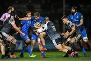 21 February 2020; Scott Penny of Leinster is tackled by Gheorghe Gajion of Ospreys during the Guinness PRO14 Round 12 match between Ospreys and Leinster at The Gnoll in Neath, Wales. Photo by Ramsey Cardy/Sportsfile