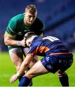 21 February 2020; Peter Robb of Connacht in action against Simon Hickey of Edinburgh during the Guinness PRO14 Round 12 match between Edinburgh and Connacht at BT Murrayfield in Edinburgh, Scotland. Photo by Paul Devlin/Sportsfile