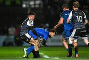 21 February 2020; Jamison Gibson-Park of Leinster in action against Luke Morgan of Ospreys during the Guinness PRO14 Round 12 match between Ospreys and Leinster at The Gnoll in Neath, Wales. Photo by Ramsey Cardy/Sportsfile