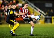 21 February 2020; Ciaron Harkin of Derry City in action against Sam Todd of Finn Harps during the SSE Airtricity League Premier Division match between Derry City and Finn Harps at Ryan McBride Brandywell Stadium in Derry. Photo by Oliver McVeigh/Sportsfile