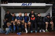 21 February 2020; Leinster players watch on from the substitutes bench during the final moments of the Guinness PRO14 Round 12 match between Ospreys and Leinster at The Gnoll in Neath, Wales. Photo by Ramsey Cardy/Sportsfile