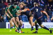 21 February 2020; Tom Daly of Connacht is tackled by Pierre Schoeman of Edinburgh during the Guinness PRO14 Round 12 match between Edinburgh and Connacht at BT Murrayfield in Edinburgh, Scotland. Photo by Paul Devlin/Sportsfile