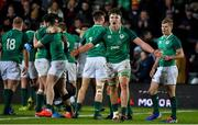 21 February 2020; Brian Deeny of Ireland and his team-mates celebrate after victory over England in the Six Nations U20 Rugby Championship match between England and Ireland at Franklin's Gardens in Northampton, England. Photo by Brendan Moran/Sportsfile