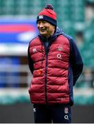 22 February 2020; Head coach Eddie Jones during the England Rugby Captain's Run at Twickenham Stadium in London, England. Photo by Brendan Moran/Sportsfile