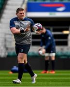 22 February 2020; Tadhg Furlong during the Ireland Rugby Captain's Run at Twickenham Stadium in London, England. Photo by Brendan Moran/Sportsfile