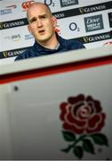 22 February 2020; Devin Toner during an Ireland Rugby press conference at Twickenham Stadium in London, England. Photo by Ramsey Cardy/Sportsfile