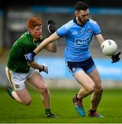 22 February 2020; Ciarán Archer of Dublin in action against James O'Hare of Meath during the Eirgrid Leinster GAA Football U20 Championship Semi-Final match between Dublin and Meath at Parnell Park in Dublin. Photo by David Fitzgerald/Sportsfile