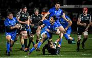 21 February 2020; James Lowe, left, and Seán Cronin of Leinster during the Guinness PRO14 Round 12 match between Ospreys and Leinster at The Gnoll in Neath, Wales. Photo by Ramsey Cardy/Sportsfile