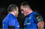 21 February 2020; Seán Cronin, left, and Peter Dooley of Leinster during the Guinness PRO14 Round 12 match between Ospreys and Leinster at The Gnoll in Neath, Wales. Photo by Ramsey Cardy/Sportsfile