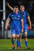 21 February 2020; Peter Dooley, left, and Ross Molony of Leinster during the Guinness PRO14 Round 12 match between Ospreys and Leinster at The Gnoll in Neath, Wales. Photo by Ramsey Cardy/Sportsfile