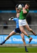 22 February 2020; Jack Flynn of Meath in action against Killian McGinnis of Dublin during the Eirgrid Leinster GAA Football U20 Championship Semi-Final match between Dublin and Meath at Parnell Park in Dublin. Photo by David Fitzgerald/Sportsfile