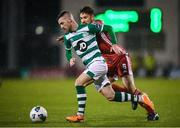 21 February 2020; Jack Byrne of Shamrock Rovers and Gearóid Morrissey of Cork City during the SSE Airtricity League Premier Division match between Shamrock Rovers and Cork City at Tallaght Stadium in Dublin. Photo by Stephen McCarthy/Sportsfile