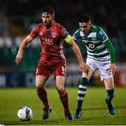 21 February 2020; Gearóid Morrissey of Cork City and Gary O'Neill of Shamrock Rovers during the SSE Airtricity League Premier Division match between Shamrock Rovers and Cork City at Tallaght Stadium in Dublin. Photo by Stephen McCarthy/Sportsfile