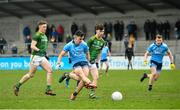 22 February 2020; Lorcan O'Dell of Dublin shoots to score his side's second goal during the Eirgrid Leinster GAA Football U20 Championship Semi-Final match between Dublin and Meath at Parnell Park in Dublin. Photo by David Fitzgerald/Sportsfile
