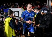 21 February 2020; Rhys Ruddock of Leinster during the Guinness PRO14 Round 12 match between Ospreys and Leinster at The Gnoll in Neath, Wales. Photo by Ramsey Cardy/Sportsfile