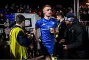 21 February 2020; Ciarán Frawley of Leinster during the Guinness PRO14 Round 12 match between Ospreys and Leinster at The Gnoll in Neath, Wales. Photo by Ramsey Cardy/Sportsfile