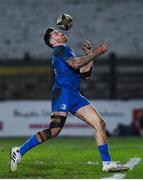 21 February 2020; Hugo Keenan of Leinster during the Guinness PRO14 Round 12 match between Ospreys and Leinster at The Gnoll in Neath, Wales. Photo by Ramsey Cardy/Sportsfile