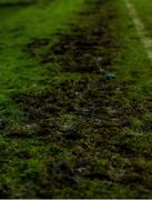 21 February 2020; A detailed view of the torn up pitch following the SSE Airtricity League Premier Division match between Sligo Rovers and St. Patrick's Athletic at The Showgrounds in Sligo. Photo by Ben McShane/Sportsfile