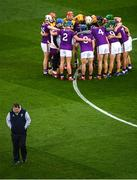 22 February 2020; Wexford manager Davy Fitzgerald walks away from the team huddle prior to the Allianz Hurling League Division 1 Group B Round 4 match between Dublin and Wexford at Croke Park in Dublin. Photo by Harry Murphy/Sportsfile