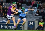 22 February 2020; James Madden of Dublin in action against Matthew O'Hanlon of Wexford during the Allianz Hurling League Division 1 Group B Round 4 match between Dublin and Wexford at Croke Park in Dublin. Photo by Sam Barnes/Sportsfile