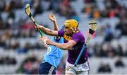 22 February 2020; Damien Reck of Wexford is tackled by David Keogh of Dublin during the Allianz Hurling League Division 1 Group B Round 4 match between Dublin and Wexford at Croke Park in Dublin. Photo by Eóin Noonan/Sportsfile