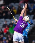 22 February 2020; Liam Ryan of Wexford in action against Paul Ryan of Dublin during the Allianz Hurling League Division 1 Group B Round 4 match between Dublin and Wexford at Croke Park in Dublin. Photo by Eóin Noonan/Sportsfile