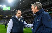 22 February 2020; Wexford manager Davy Fitzgerald and Dublin manager Mattie Kenny following the Allianz Hurling League Division 1 Group B Round 4 match between Dublin and Wexford at Croke Park in Dublin. Photo by Eóin Noonan/Sportsfile