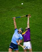 22 February 2020; Chris Crummey of Dublin in action against Paudie Foley of Wexford during the Allianz Hurling League Division 1 Group B Round 4 match between Dublin and Wexford at Croke Park in Dublin. Photo by Harry Murphy/Sportsfile
