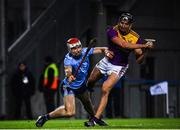 22 February 2020; Jack O'Connor of Wexford shoots to score his side's second goal despite the attentions of Paddy Smyth of Dublin during the Allianz Hurling League Division 1 Group B Round 4 match between Dublin and Wexford at Croke Park in Dublin. Photo by Sam Barnes/Sportsfile