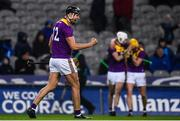 22 February 2020; Jack O'Connor of Wexford celebrates at the final whistle during the Allianz Hurling League Division 1 Group B Round 4 match between Dublin and Wexford at Croke Park in Dublin. Photo by Sam Barnes/Sportsfile