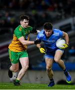 22 February 2020; David Byrne of Dublin in action against Jamie Brennan of Donegal during the Allianz Football League Division 1 Round 4 match between Dublin and Donegal at Croke Park in Dublin. Photo by Sam Barnes/Sportsfile