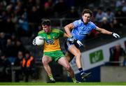 22 February 2020; Peadar Mogan of Donegal in action against Michael Fitzsimons of Dublin during the Allianz Football League Division 1 Round 4 match between Dublin and Donegal at Croke Park in Dublin. Photo by Sam Barnes/Sportsfile
