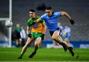 22 February 2020; Brian Fenton of Dublin in action against Michael Langan of Donegal during the Allianz Football League Division 1 Round 4 match between Dublin and Donegal at Croke Park in Dublin. Photo by Sam Barnes/Sportsfile