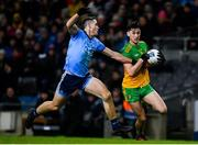 22 February 2020; Michael Langan of Donegal in action against Brian Fenton of Dublin during the Allianz Football League Division 1 Round 4 match between Dublin and Donegal at Croke Park in Dublin. Photo by Sam Barnes/Sportsfile