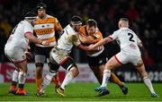 22 February 2020; Boan Venter of Toyota Cheetahs is tackled by Marcell Coetzee of Ulster during the Guinness PRO14 Round 12 match between Ulster and Toyota Cheetahs at Kingspan Stadium in Belfast.  Photo by Oliver McVeigh/Sportsfile
