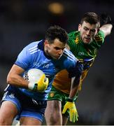 22 February 2020; Kevin McManamon of Dublin in action against Eoghan Bán Gallagher of Donegal during the Allianz Football League Division 1 Round 4 match between Dublin and Donegal at Croke Park in Dublin. Photo by Sam Barnes/Sportsfile
