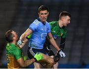 22 February 2020; Paul Mannion of Dublin reacts after scoring his side's first goal despite the attention of Neil McGee of Donegal during the Allianz Football League Division 1 Round 4 match between Dublin and Donegal at Croke Park in Dublin. Photo by Sam Barnes/Sportsfile